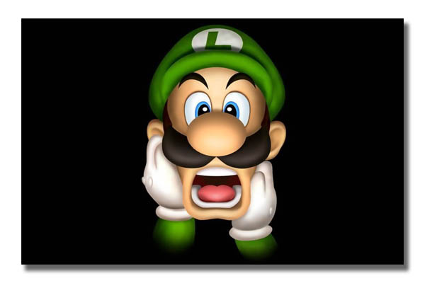 VG0195 Luigi Shocked Scream